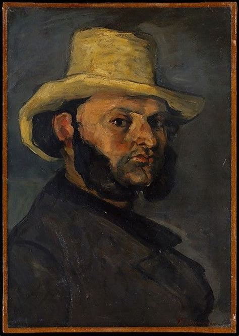 cezanne by himself drawings paul c 233 zanne french 1839 1906 gustave boyer b 1840 in a straw hat 1870 1871 the