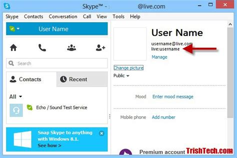 How To Find On Skype How To Find Your Skype User Name Or Id