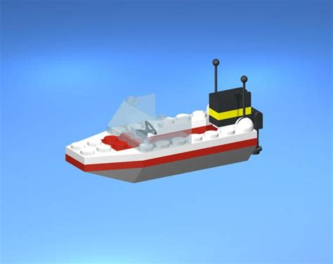 lego yacht tutorial lego model 1632 speed boat pro engineer wildfire stl