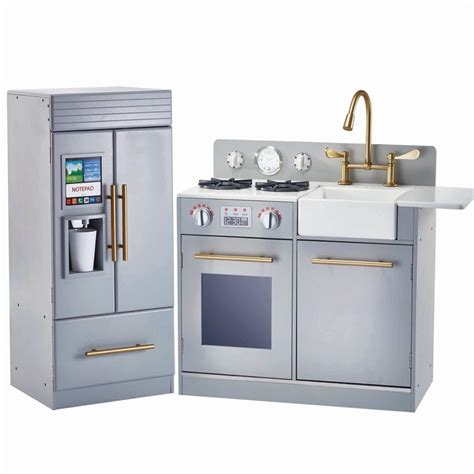 minibar kitchen set semi classic teamson play kitchen with maker function in gray