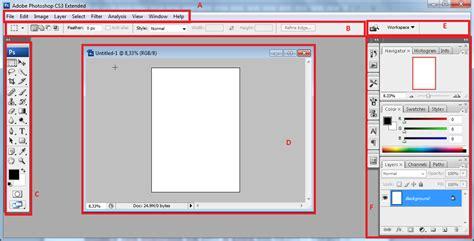 tutorial penggunaan adobe photoshop cs3 lentera pena tutorial photoshop mengenal area kerja