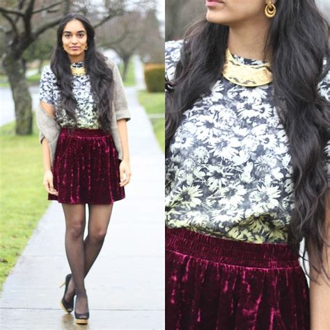 jessica nkosi skirt necklace tribal fashion footnotes and finds joe fresh ruby velvet skirt h m
