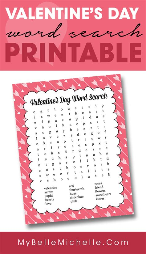 free printable word search valentine s day my belle michelle 187 fun valentine s day word search printable