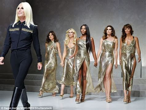 here are all the models walking in this years victorias helena christensen shows off age defying beauty at versace