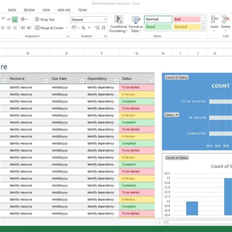 scope of work template excel microsoft project wbs template ideas resume ideas