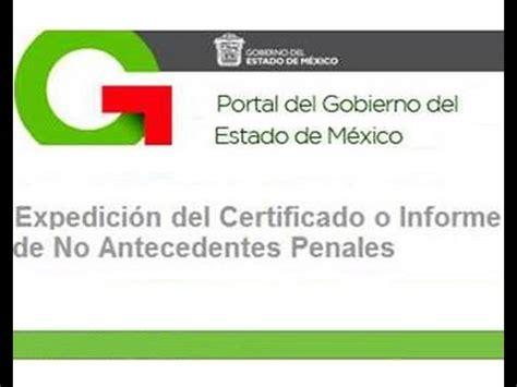 papeles para la carta de antecedentes no penales 2016 sacar antecedentes no penales edo mex youtube