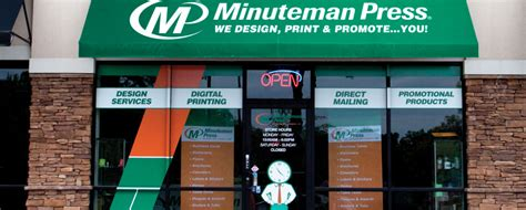 minuteman press printing franchise business services