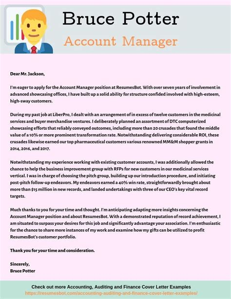 account manager cover letter samples templates pdfword