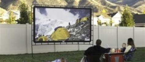 backyard movie screens c chef outdoor movie screen on sale the daily caller