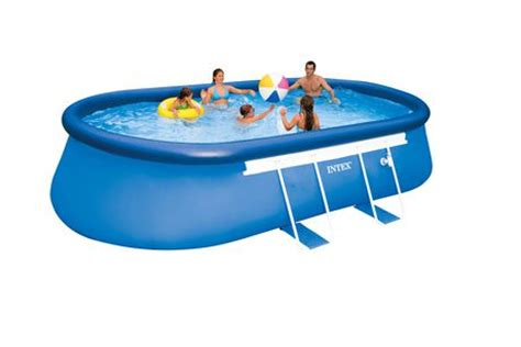 intex ft  ft   oval frame pool set walmart canada