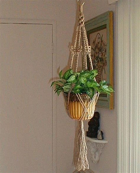 Macrame Plant Holder Tutorial - dragonfly macrame plant hanger holder jute made in usa