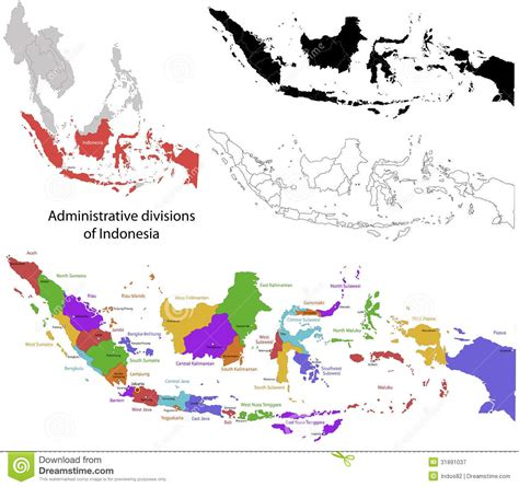indonesia map vector free indonesia map royalty free stock photography image 31891037