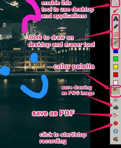 desktop drawing tool draw on desktop save drawing as pdf png image