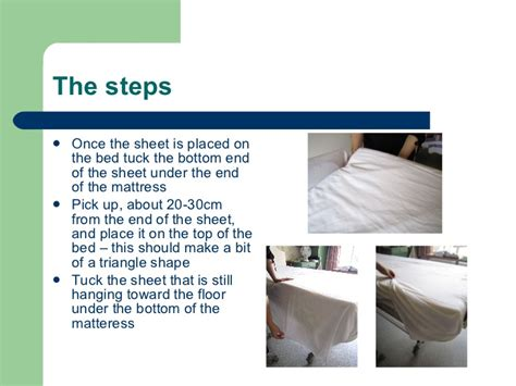 correct way to make a bed bed making