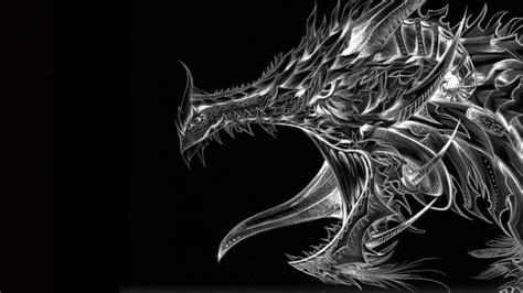 black and white dragon wallpaper black and white dragon wallpaper and background image