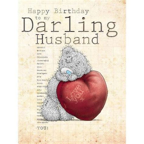 Birthday Cards For My Husband Husband Birthday Card Large Me To You Happy Birthday