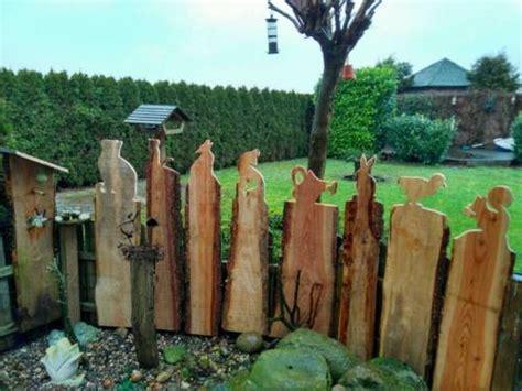 Holz Deko Im Garten by Zaun Gucker Figur Holz Garten Deko In Niedersachsen