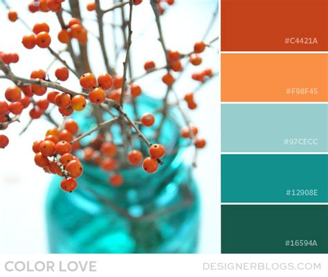 teal color schemes color orange and teal designerblogs