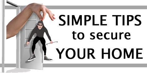 simple tips to secure your home deb