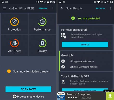 android security android security app reviews avg and avast antivirus