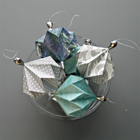 Decorative Origami - geo origami ornaments by all things paper project