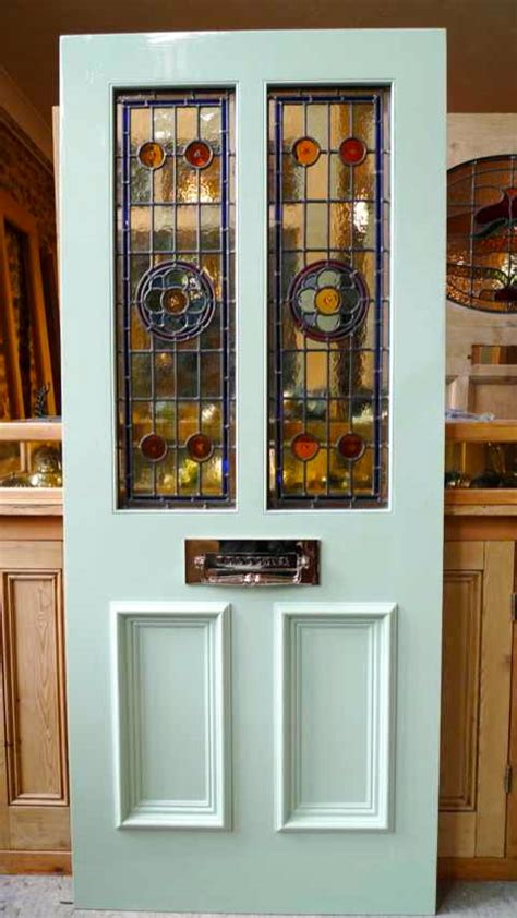 Leaded Glass Front Door Style 2 Panel Stained Glass Front Door Stained Glass Doors Company