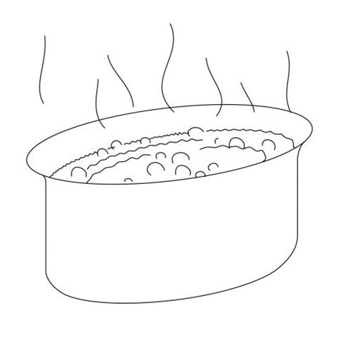 Boiling Water Coloring Page | big boiling pot coloring sheet coloring pages