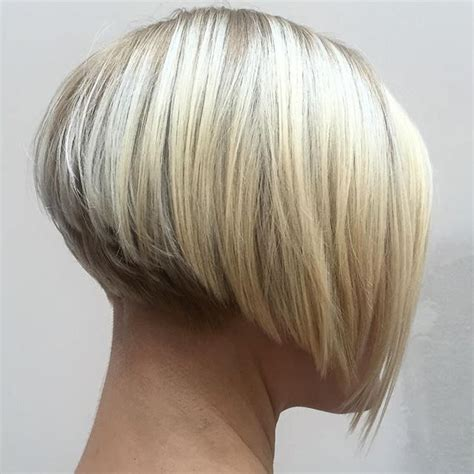 pic of front back of fluffy bob hairstyles in platium dark golder blonde image result for inverted bob with some short layers in