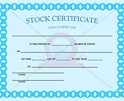 Stock Certificate Template Free In Word And Pdf Jssco Stock Certificate Templates