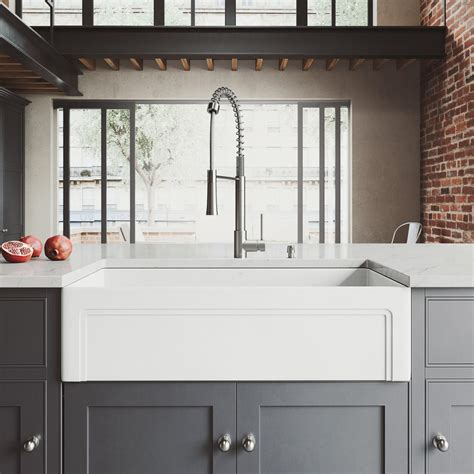 Home Depot Farmhouse Sink by Vigo All In One Farmhouse Matte 36 In Single Bowl