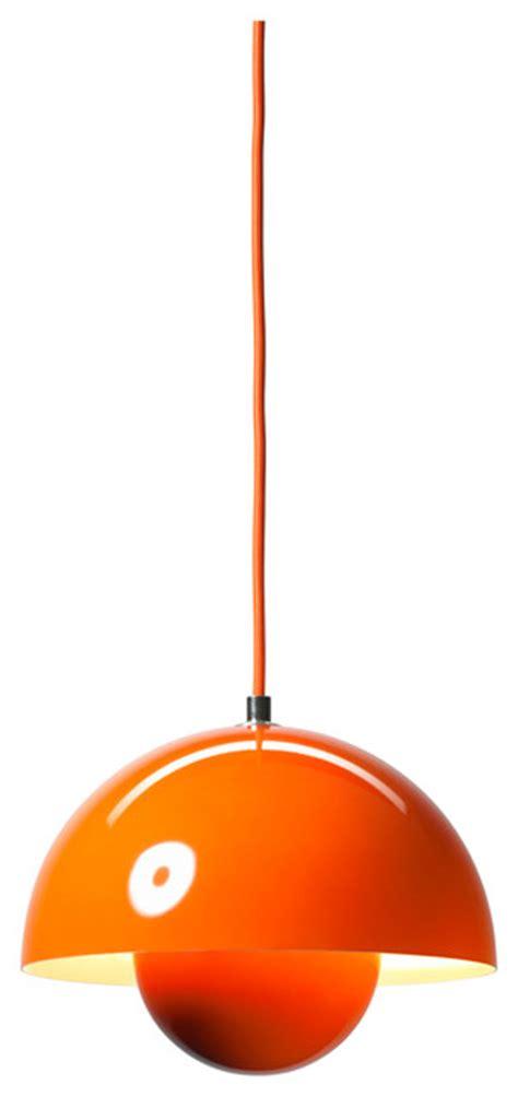 Vp1 Flowerpot Pendant L Orange Modern Pendant Orange Pendant Lights Kitchen