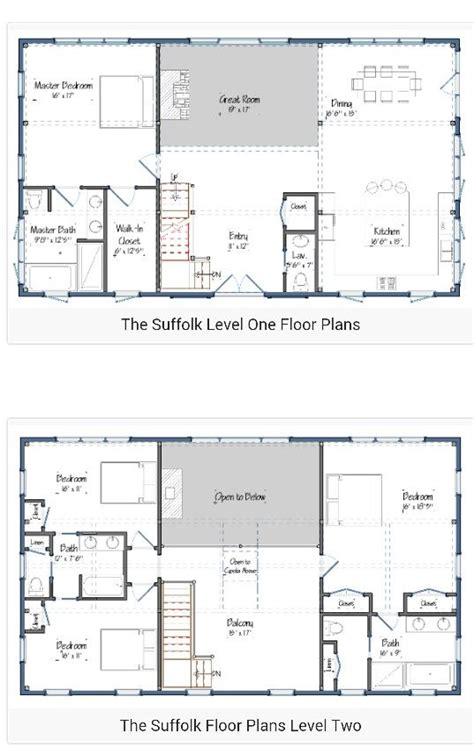 2 story open floor plans 30 barndominium floor plans for different purpose