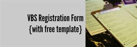 Free Printable Vbs Registration Forms