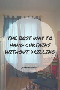 best way to hang pictures without nails hooks curtain rods and nails on pinterest