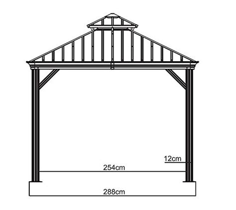 Best Gazebo 500 Sojag 500 7156980 Track No 77 Messina Top Sun Shelter