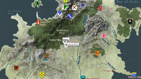 houses of the north game of thrones interactive map allows you to explore the seven kingdoms