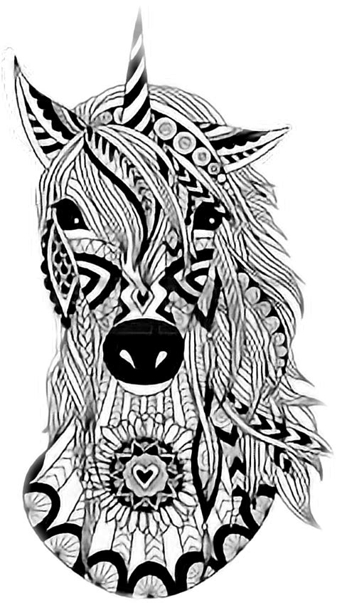 imagenes tumblr png para colorear unicornios mandalas y zentangles con pegasus para