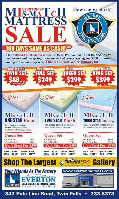 Mattress Mismatch Sale by Mattress Sale Savvy Rest Mattress Sale Mattress