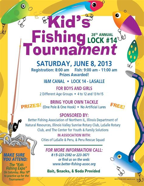 fishing tournament flyer template kid s fishing tournament flyer