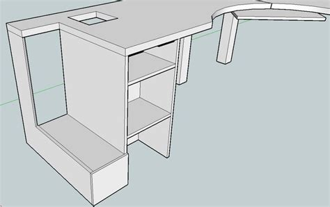 Roll Top Computer Desk Plans Free Woodworking Projects Free Corner Desk Plans