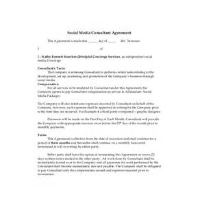 social media contract template consultant agreement template 11 free word pdf