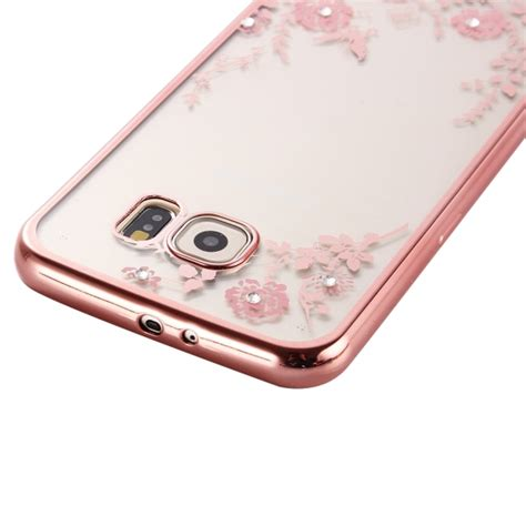 Flower Soft Samsung A5 2016 flowers patterns electroplating soft tpu protective cover