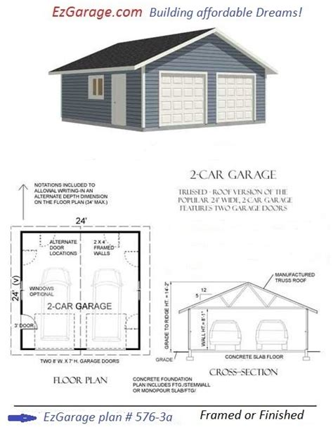 cinder block garage plans tarmin garage plans concrete block