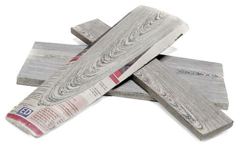 How To Make Paper Logs - lumber made from newspaper looks like real wood