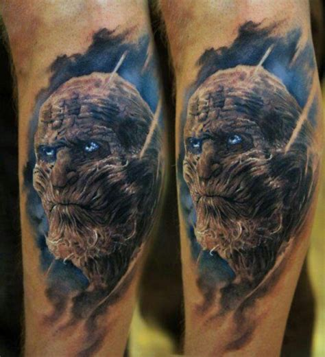 game of thrones tattoo of thrones white walkers tattoos