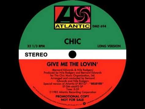 Hq 9675 I Dont Give A Chic chic give me the lovin extended version