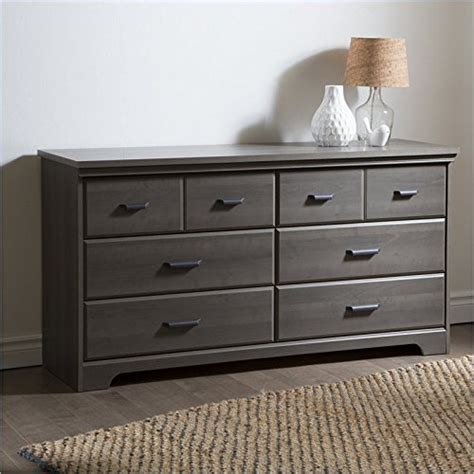 grey 6 drawer dresser south shore versa 6 drawer dresser gray maple