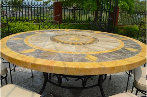 49 quot outdoor amp patio garden round table mosaic marble stone florida