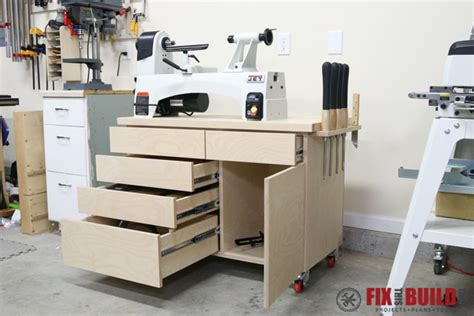 wood lathe stand  storage fixthisbuildthat