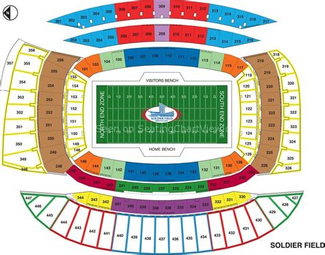 field seating chart soldier field chicago il seating chart view